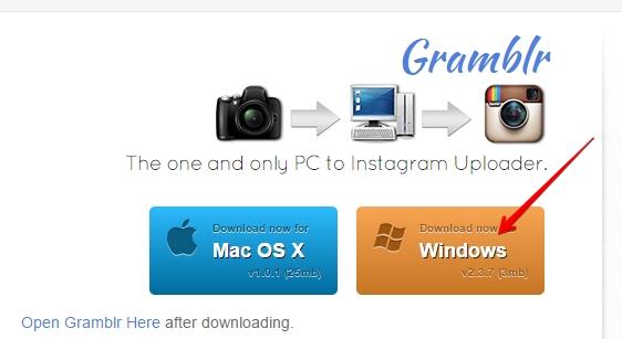 как загрузить фото с компьютера в инстаграм