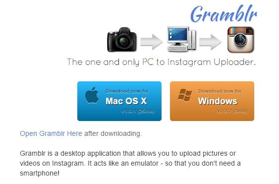 Загрузка фотографий в Instagram с компьютера