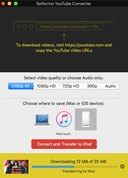 Видео с YouTube на iPad