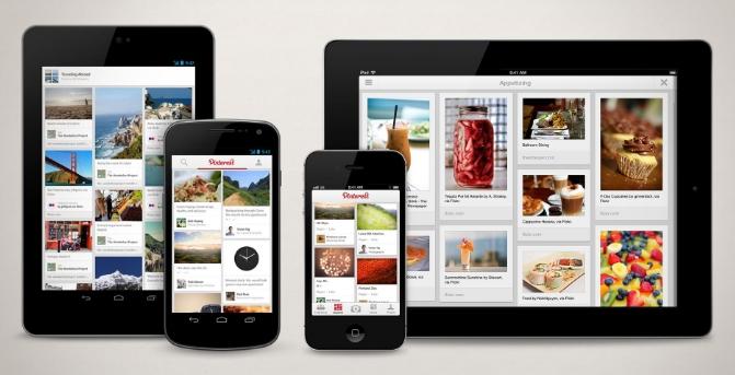 Мобильное приложение Pinterest